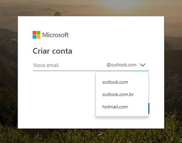 criar Outlook gratuito