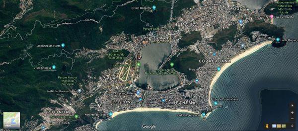 satélite google maps