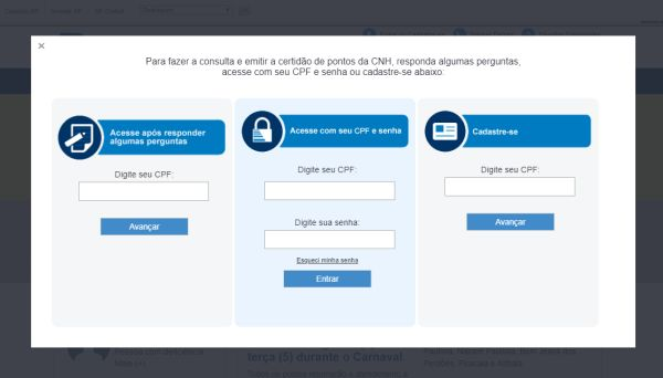 consulta online Detran SP