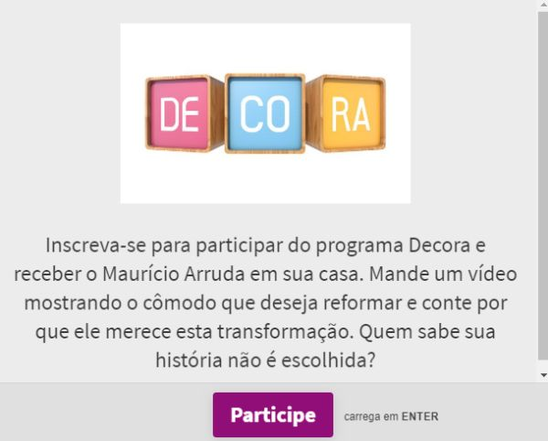 participar do Decora GNT
