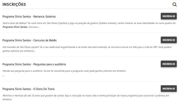 site programa Sílvio Santos
